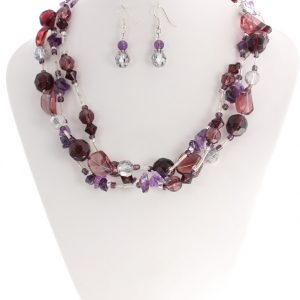 amethyst chunky necklace