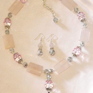 buy rose quartz necklace