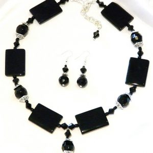 Black Gemstone Necklace