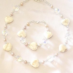 Pearl and Gemstone Heart Necklace