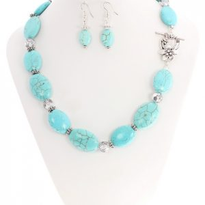 turquoise gemstone chunky necklace