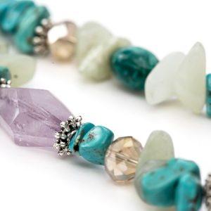 amethyst birthday stone necklace