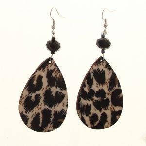 leopard printed earrings